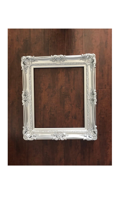 20x24 Silver Frames Baroque Frame For Canvas Frame For Painting Large Picture Frame Ornate Frame Wedding Frame Baroque Frames Large Picture Frames Painted Picture Frames