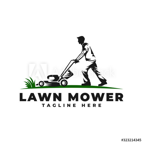 Lawn Mower With People Logo Vector Icon Illustration Buy This Stock Vector And Explore Similar Vectors At A People Logo Vector Icons Illustration Vector Logo