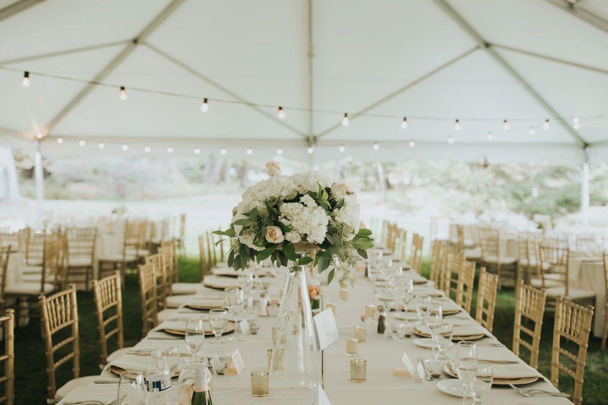 Wedding reception decoration ideas  Soft u Romantic Outdoor Wedding at Seven Springs Lindsey u John