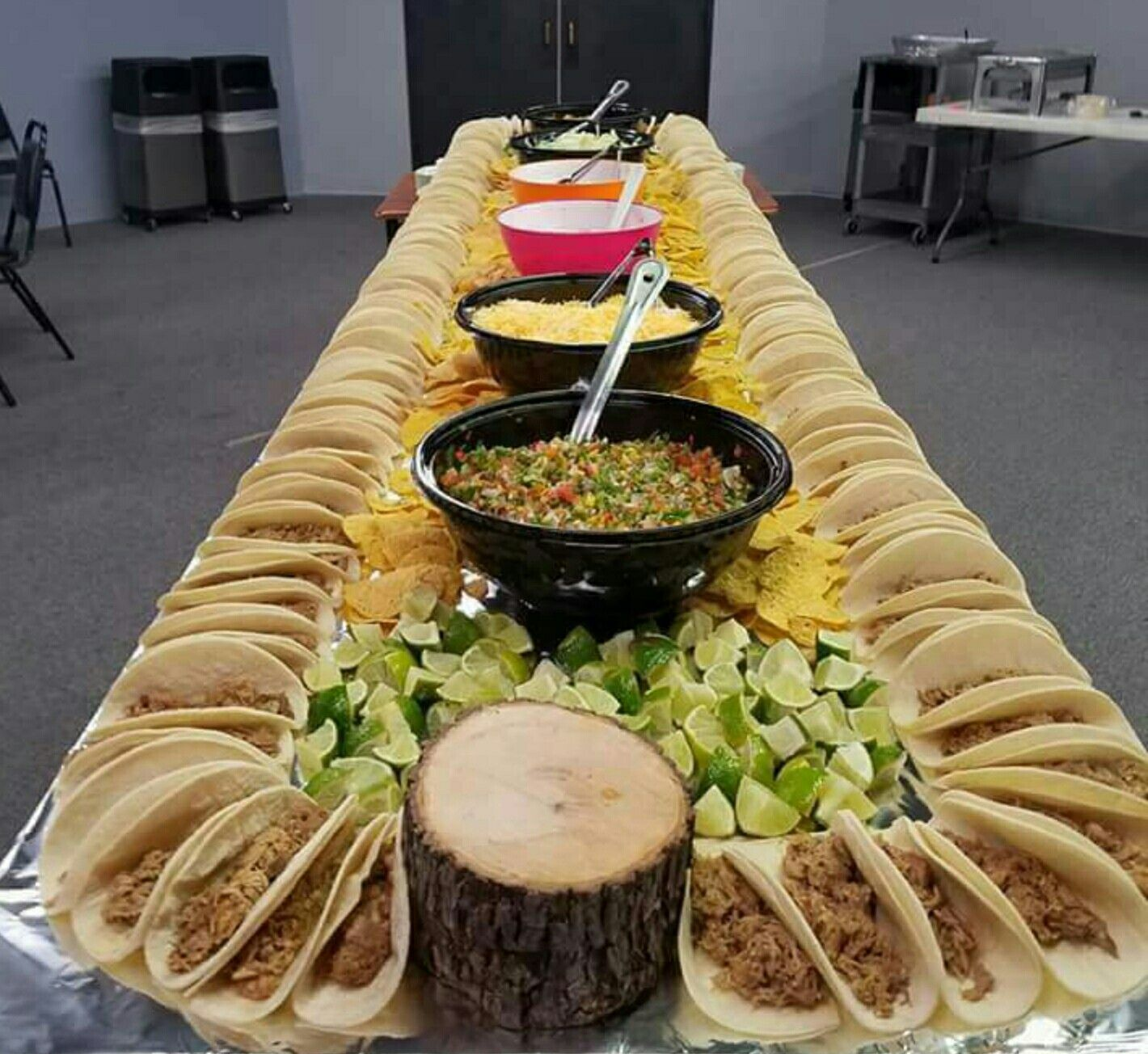 Epic Taco Table Decided On Mini Tacos Since Everything Will Be