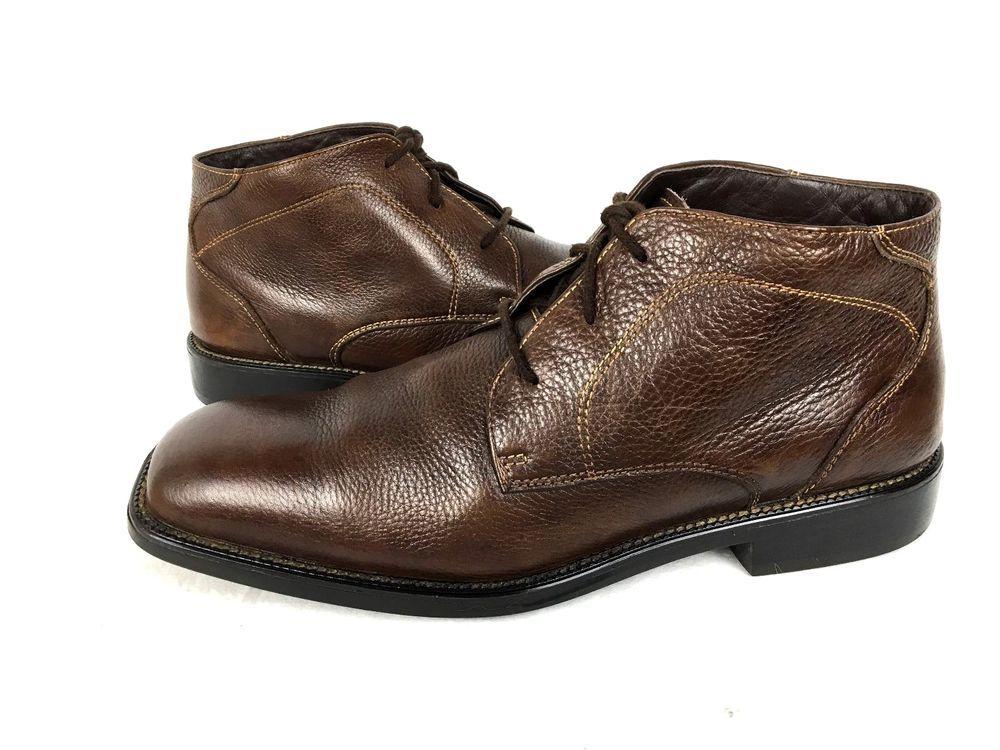 Alfani Boots 9 Brown Leather Lace Up Shoes Men S Alfani