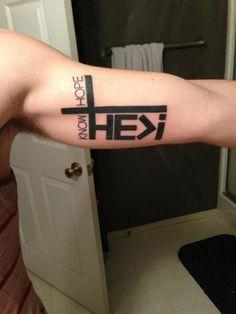 Attractive Inner Bicep Christian Tattoo Christian Tattoo Designs