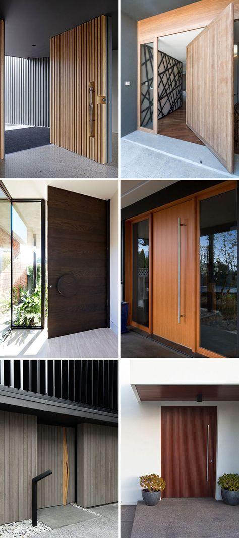 Modern House Exterior Design Front Door Ideas Wood Facade Wooden Garage Door: These 13 Sophisticated Modern Wood Door Designs Add A Warm Welcome