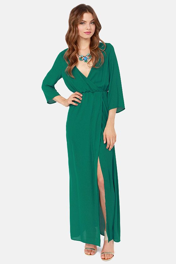 6a048ed83a Wrapped in Romance Teal Maxi Dress | Graduation | Maxi wrap dress ...