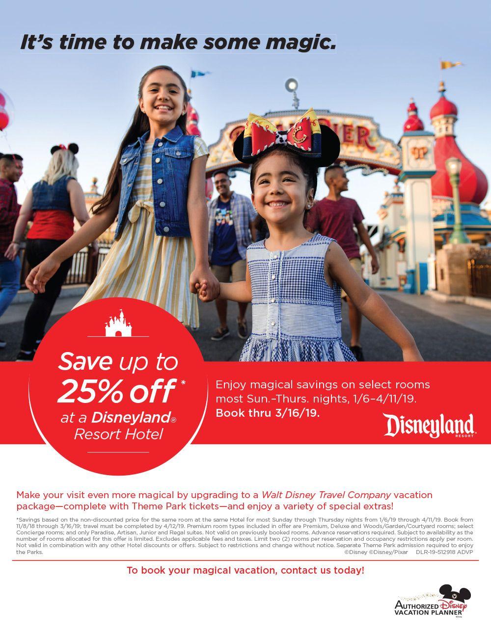 2019 Disneyland Winter Savings Disney Discounts Disneyland Resort Hotel Disneyland Discounts