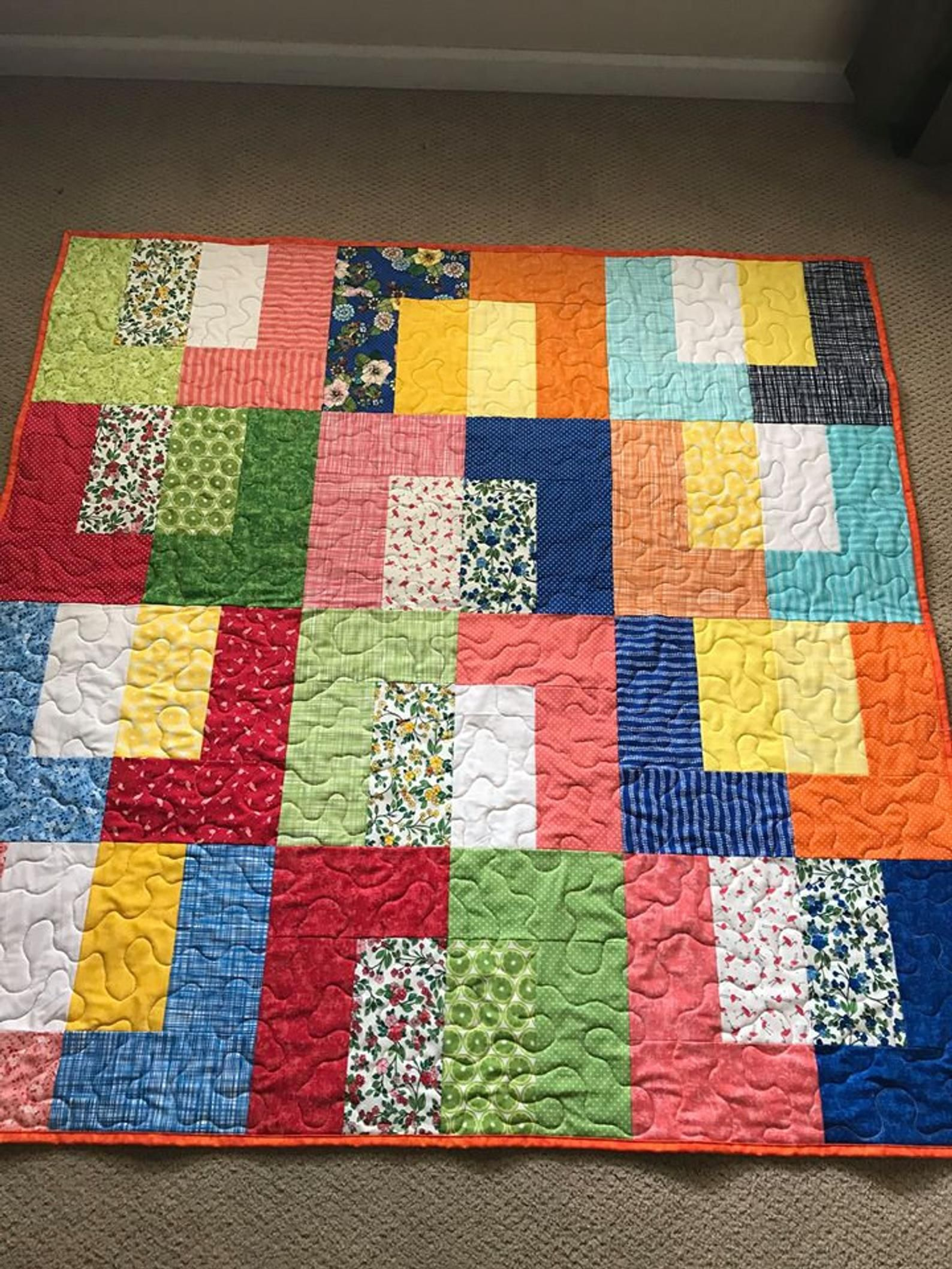 Pdf Lap Quilt Pattern Quick And Easy Layer Cake Etsy Lap Quilt Patterns Quilt Patterns Lap Quilt