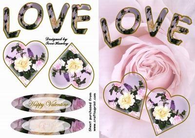 love pink 3 on Craftsuprint - Add To Basket!