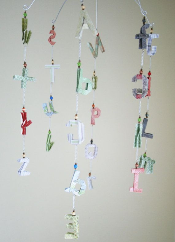 Alphabet Mobile ABC Mobile Baby Mobile Gender by StellarOrigami