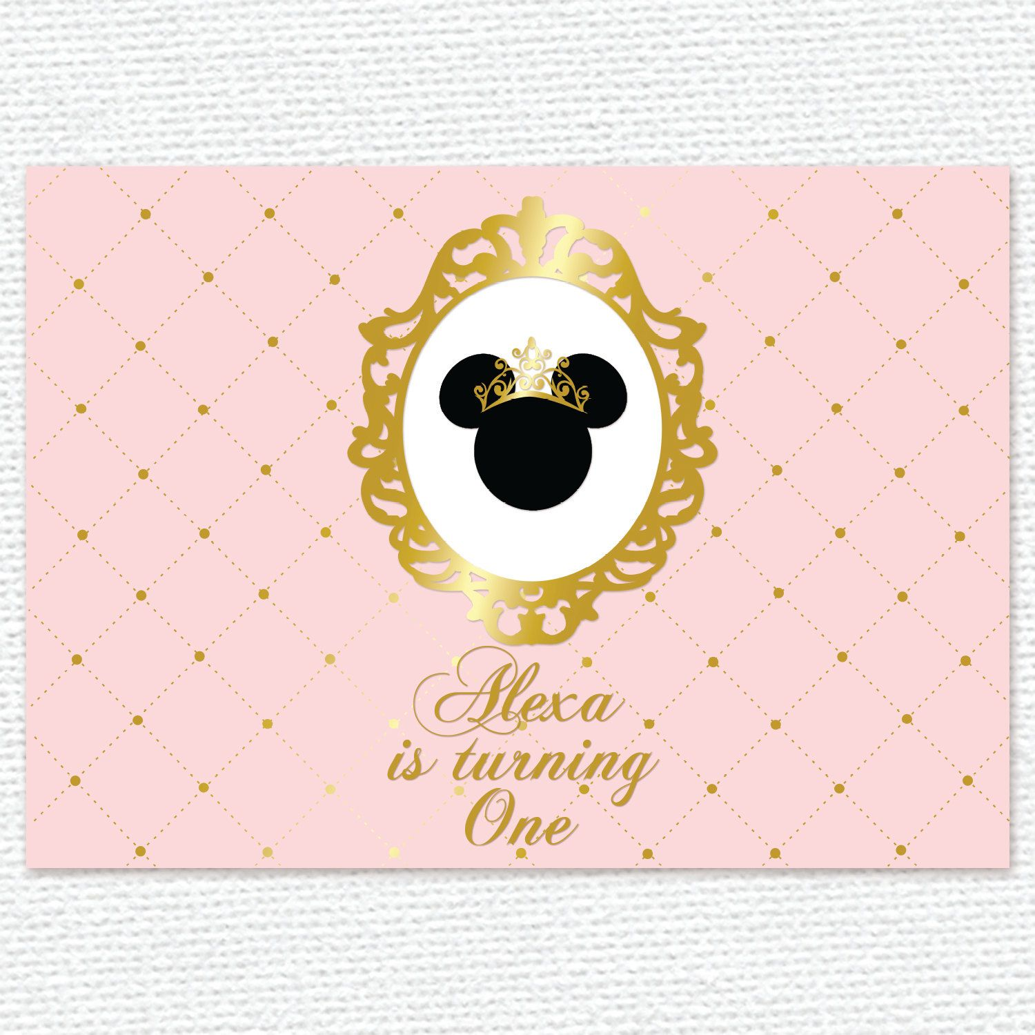 Pink And Gold Princess Minnie Mouse Baby Shower 1St Birthday