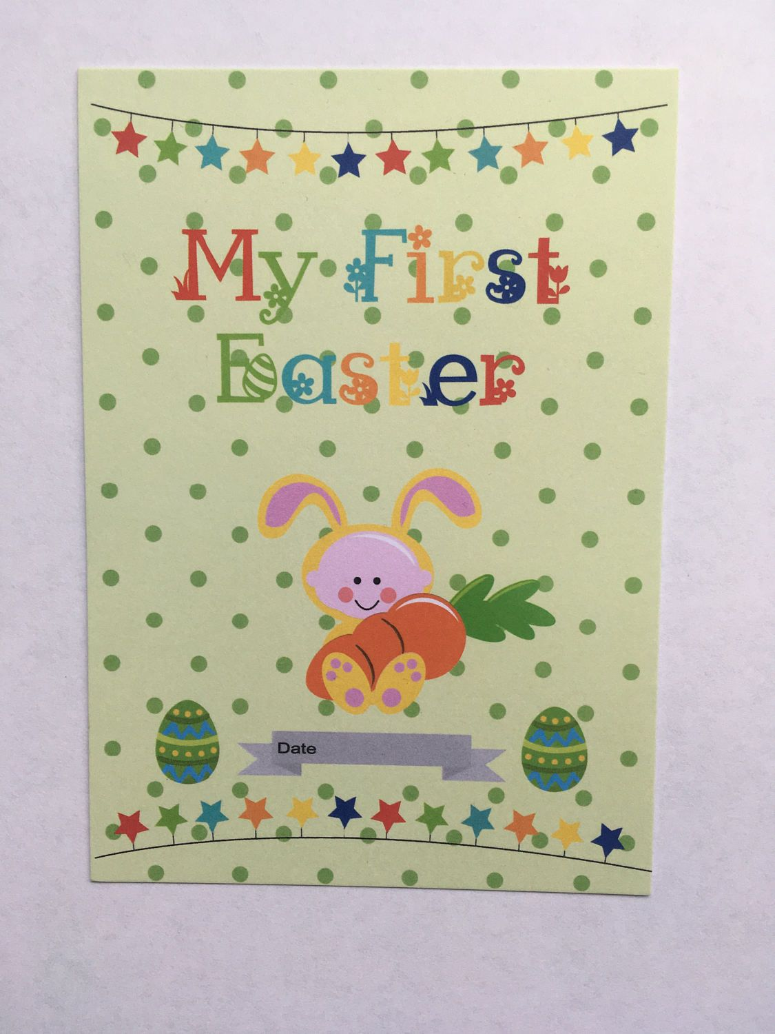 My first easter milestone card baby milestone cards baby shower my first easter milestone card bab milestone cards baby shower gift new baby negle Gallery