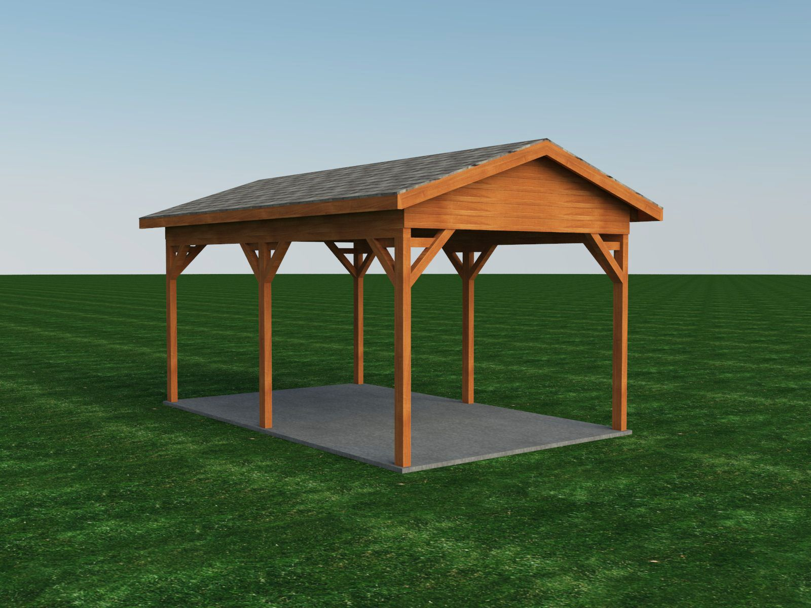 Carport Plans DIY Outdoor Canopy Car Shelter Gazebo Garage