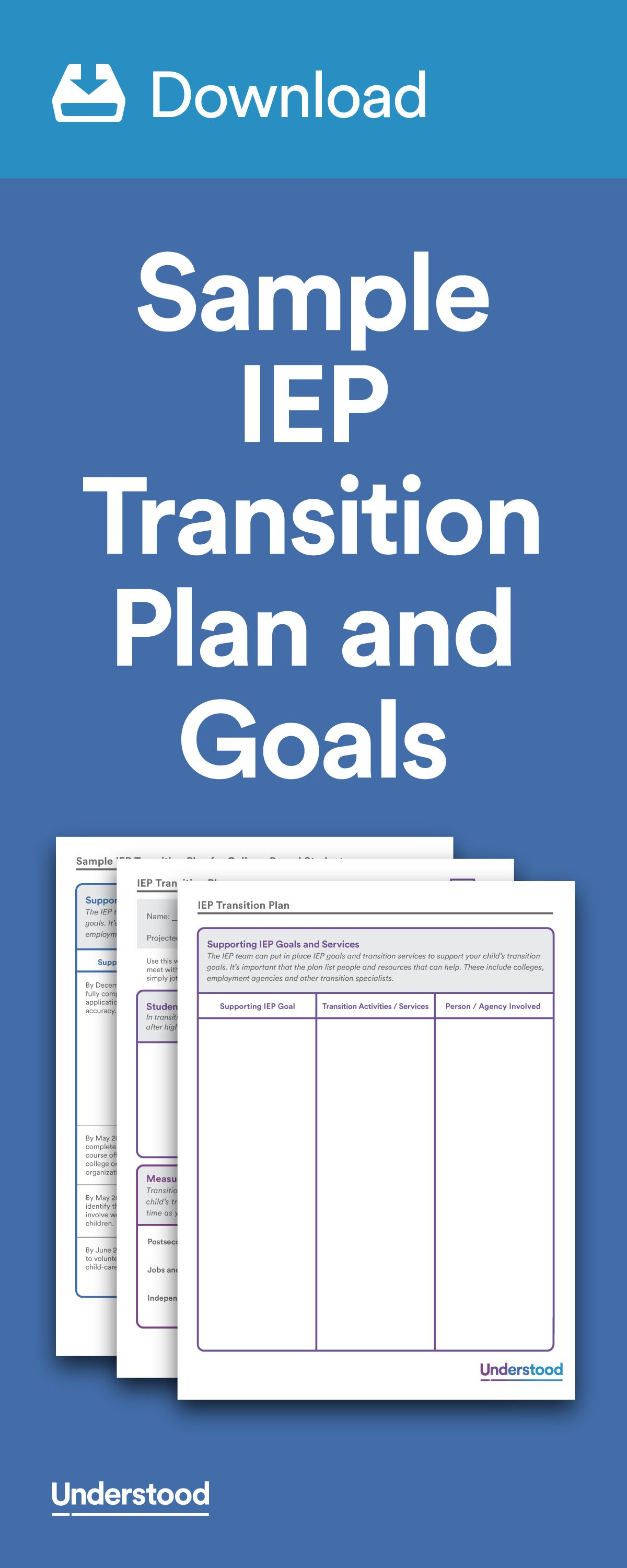 Download Sample Iep Transition Plan And Goals