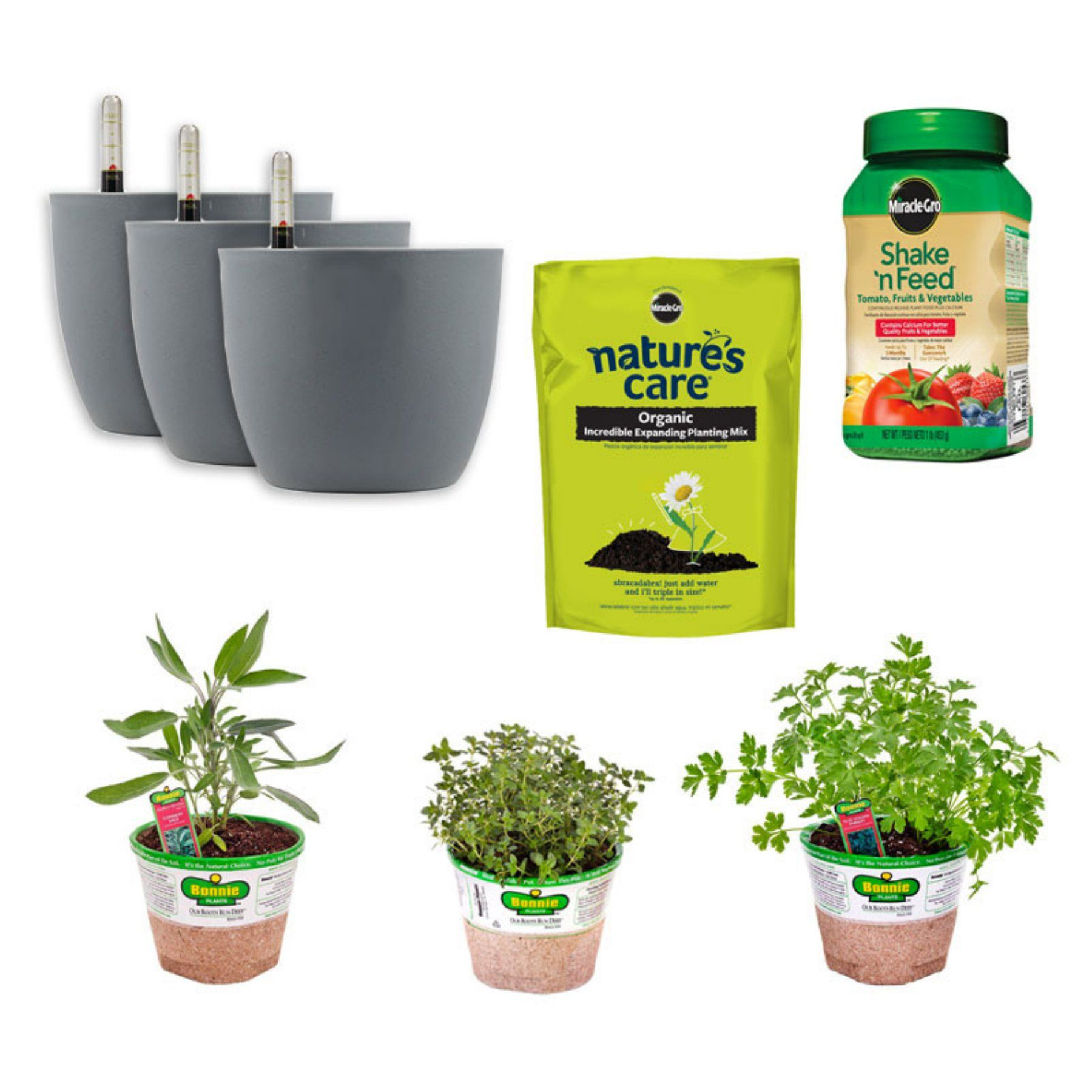Bonnie Plants Indoor Self Watering Kitchen Garden Set  B502