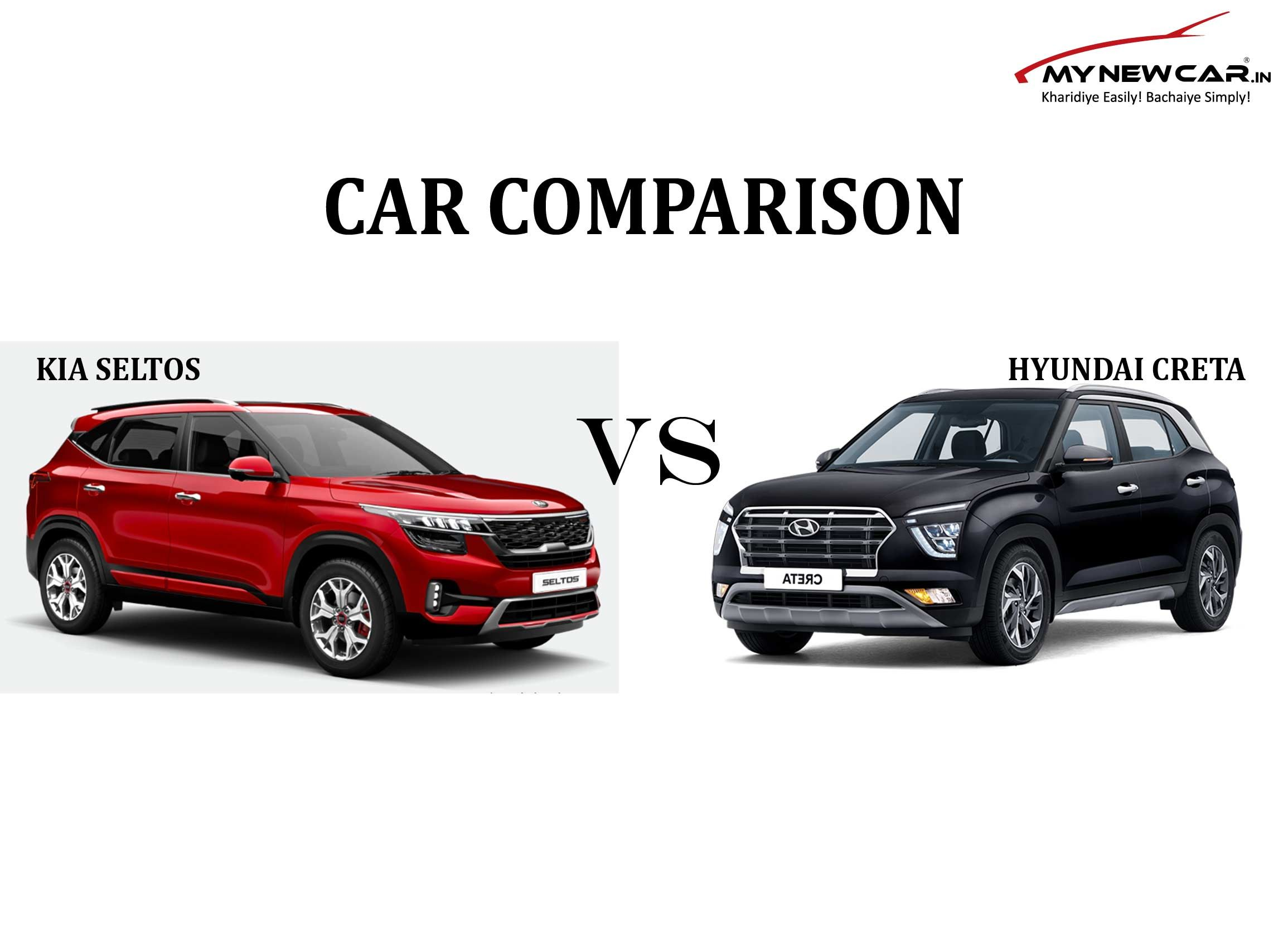 Car Comparison Hyundai Creta Vs Kia Seltos In 2020 Hyundai Kia Car