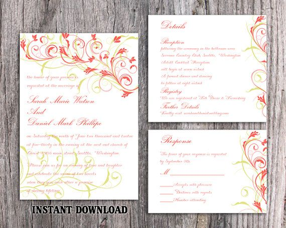 diy wedding invite templates