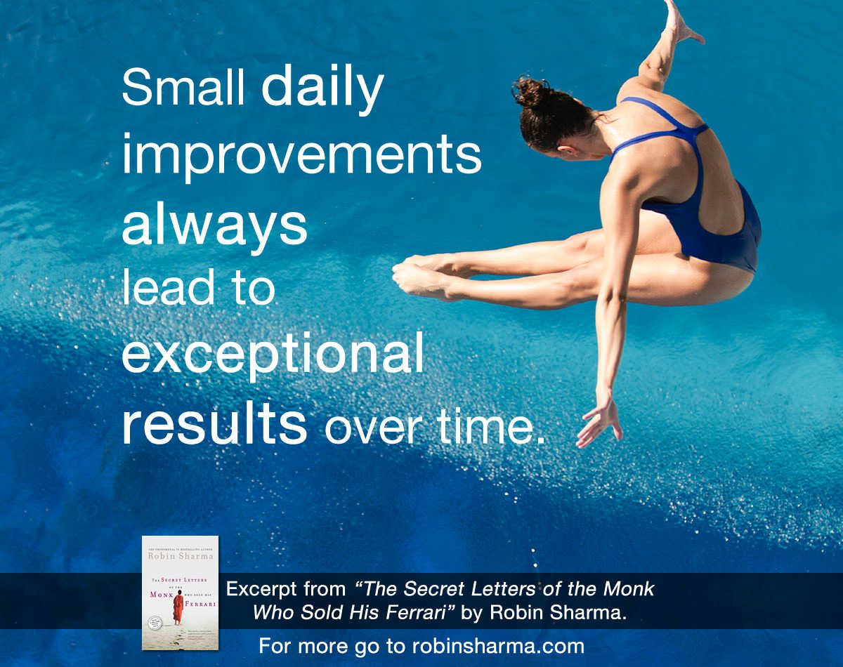 Small Daily Improvements Always Lead To Exceptional Results Over Time