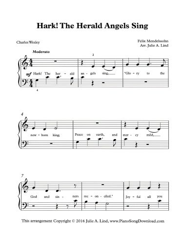 Hark The Herald Angels Sing Free Pdf Christmas Sheet Music