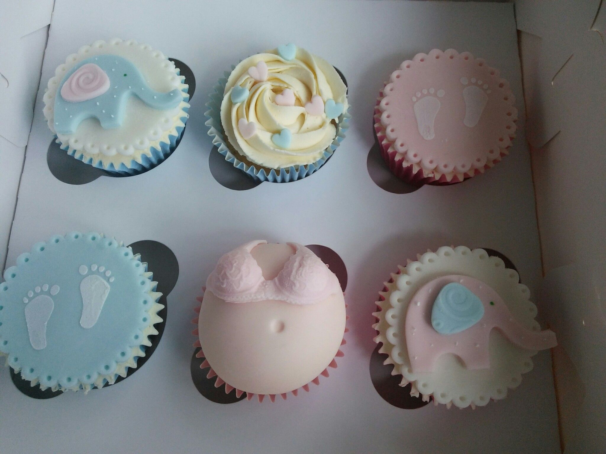Baby Shower Cupcakes Baby Cupcake Pink Blue Baby Cupcakes