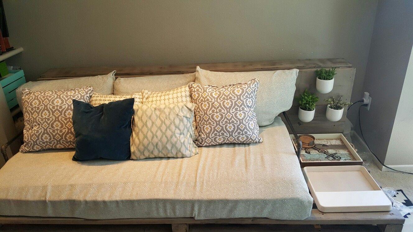 Diy Couch Using A Twin Mattress Diy Mattress Couch Diy Couch Twin Mattress Couch