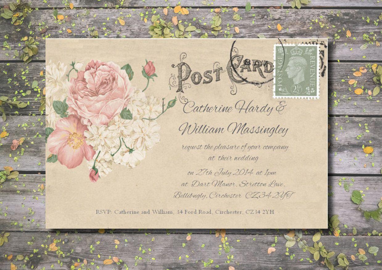 Wedding Invitations - Personalised Large 18x13cm (7x5\