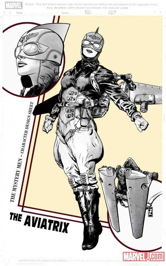 charactermodel:  The Aviatrix by Patrick Zircher [ Mystery Men ]