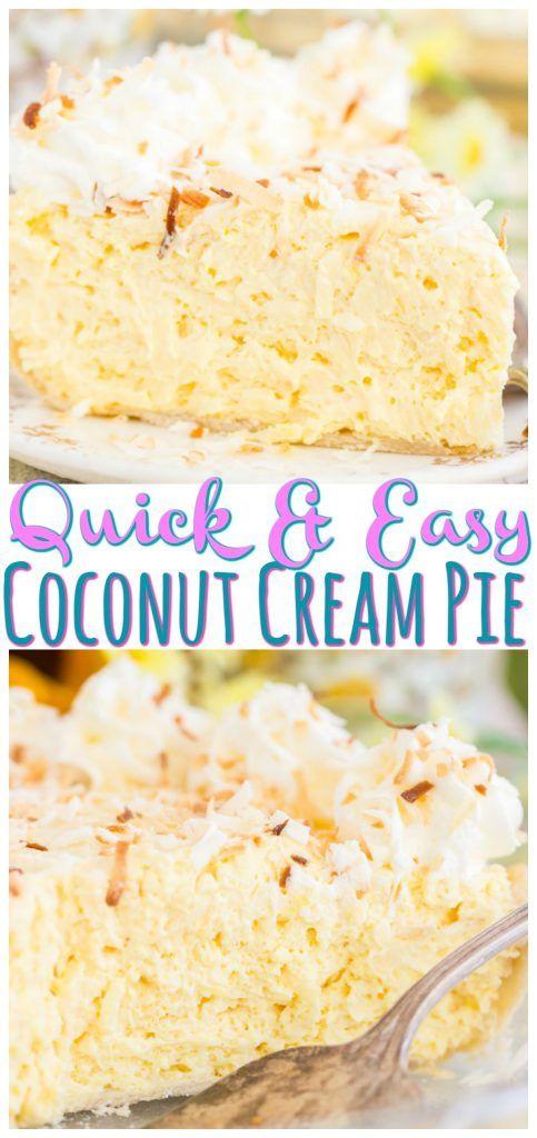 No Bake Coconut Cream Pie - The Gold Lining Girl #sugarcreampie