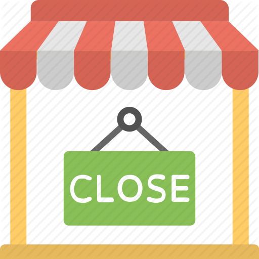 Closed Sign Shop Closed Shop Notice Shop Sign We Are Closed Icon Download On Iconfinder Shop Signs Closed Signs Icon