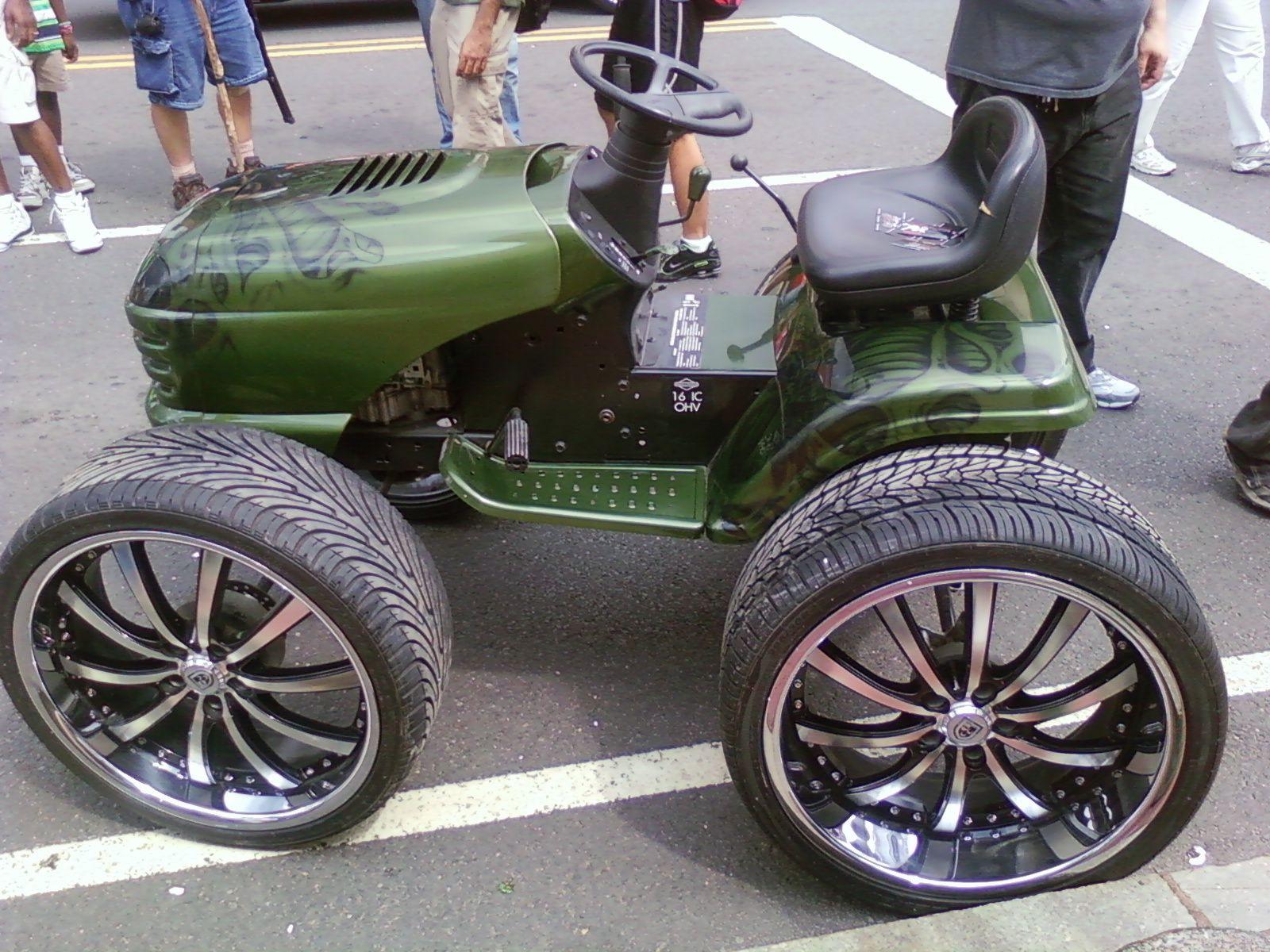 Custom Lawn Tractor Hood : Josh s ford taurus sho l v page build up