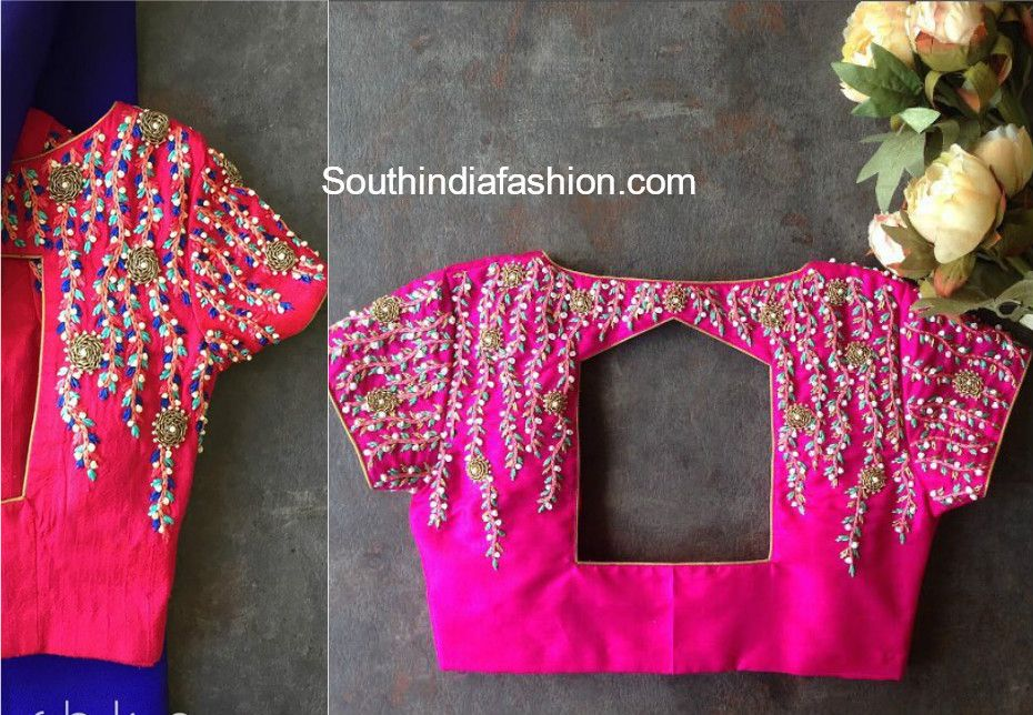 f88fe9f169c02 17 Awesome Maggam Work Blouse Designs by Nyshka Design Studio ...