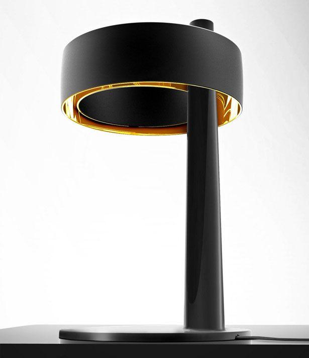 Pulsar Asimmetrica Ceramic Table Lamp Giulio Valerio Vinaccia
