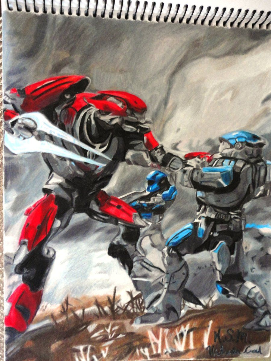 Elite vs. Spartan from Halo Reach by Victoria-Creed | Halo ...