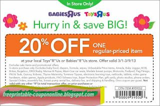 d2a4f6ea350 Free Printable Babies R Us Coupons