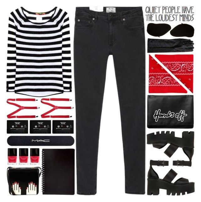 """""""mime halloween costume..."""" by cinnamon-and-cocoa ❤ liked on Polyvore featuring 81hours, Acne Studios, Monki, Windsor Smith, NLY Accessories, YMC, MAC Cosmetics, Butter London, CASSETTE and Lulu Guinness"""