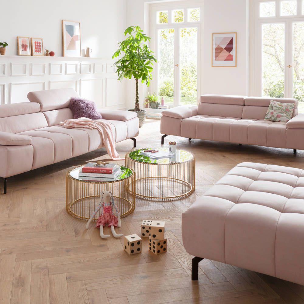 2,5-Sitzer Lacuna | Couchtisch set, Rosa sofa, Wohnzimmer ...