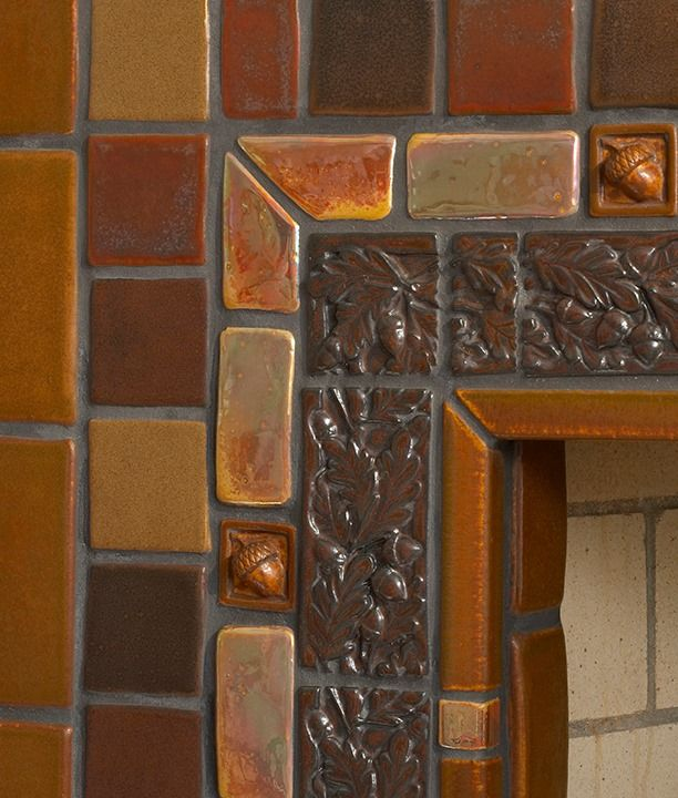 15 Top Raised Ranch Interior Design Ideas To Steal: Pewabic Acorn Border (new Or Old?)