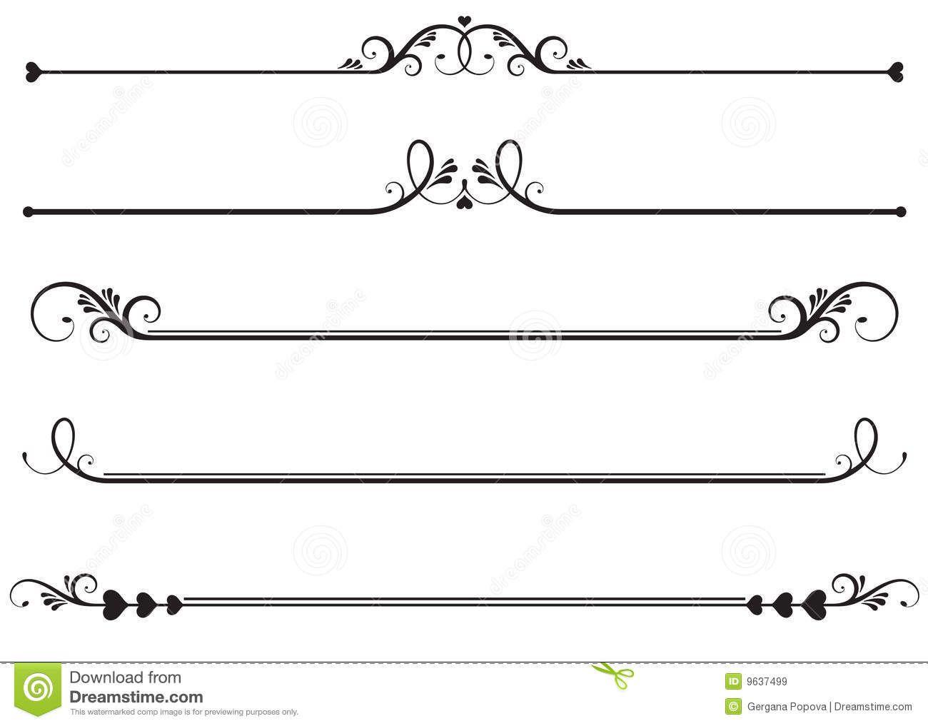 Vector Drawing Straight Lines : Lineas ornamentales o decorativas líneas