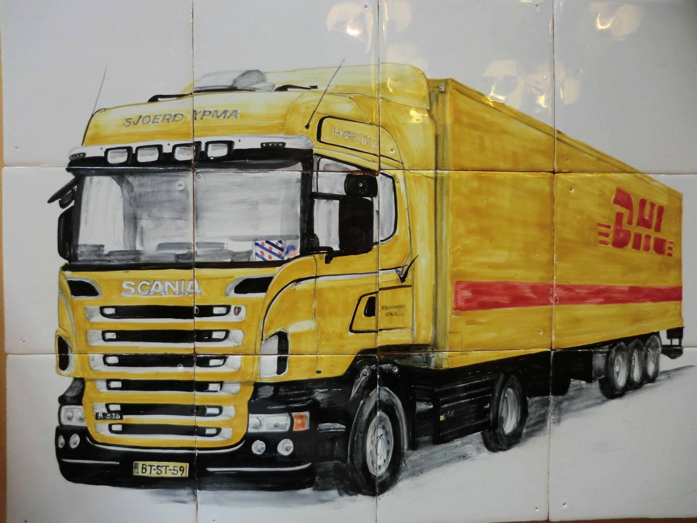 Scania Dhl Op Tegels Cadeau Van Vrienden Auto