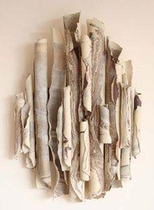 ceramic texture by Joan Hardie. makes me wonder about using gum tree bark...