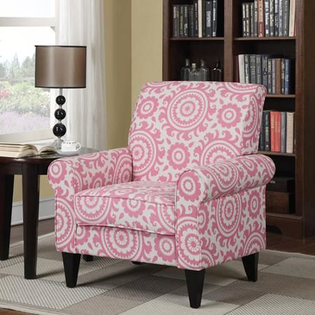 Dana Medallion Rolled Arm Accent Chair, Multiple Colors - Walmart ...
