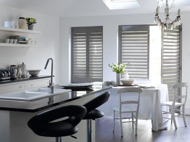 Image result for gray contemporary plantation interior shutters ...