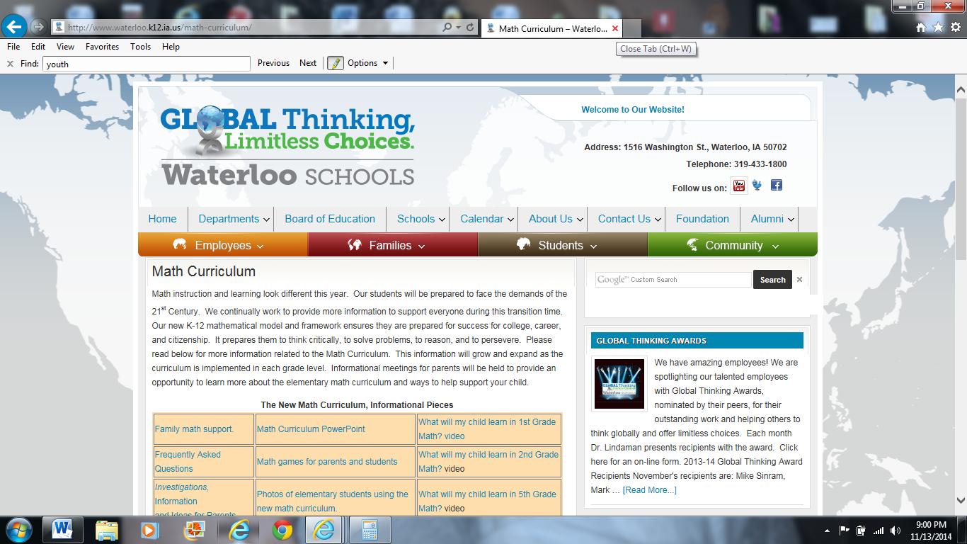 Website: http://www.waterloo.k12.ia.us/math-curriculum/. Math ...