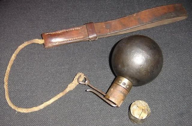 Grenade Mle 1914Designed c 1847 upgraded with a better fuse c 1882