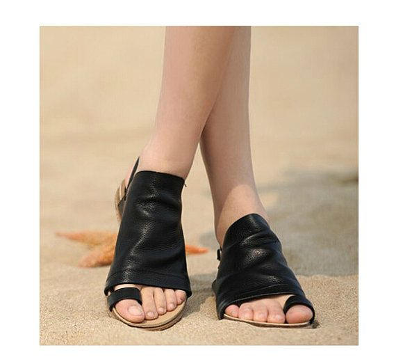 2 Colors! Handmade Women's Sandals, Leather Shoes, Flat Shoes, Summer Shoes Sandals, Personal Sandal Shoes