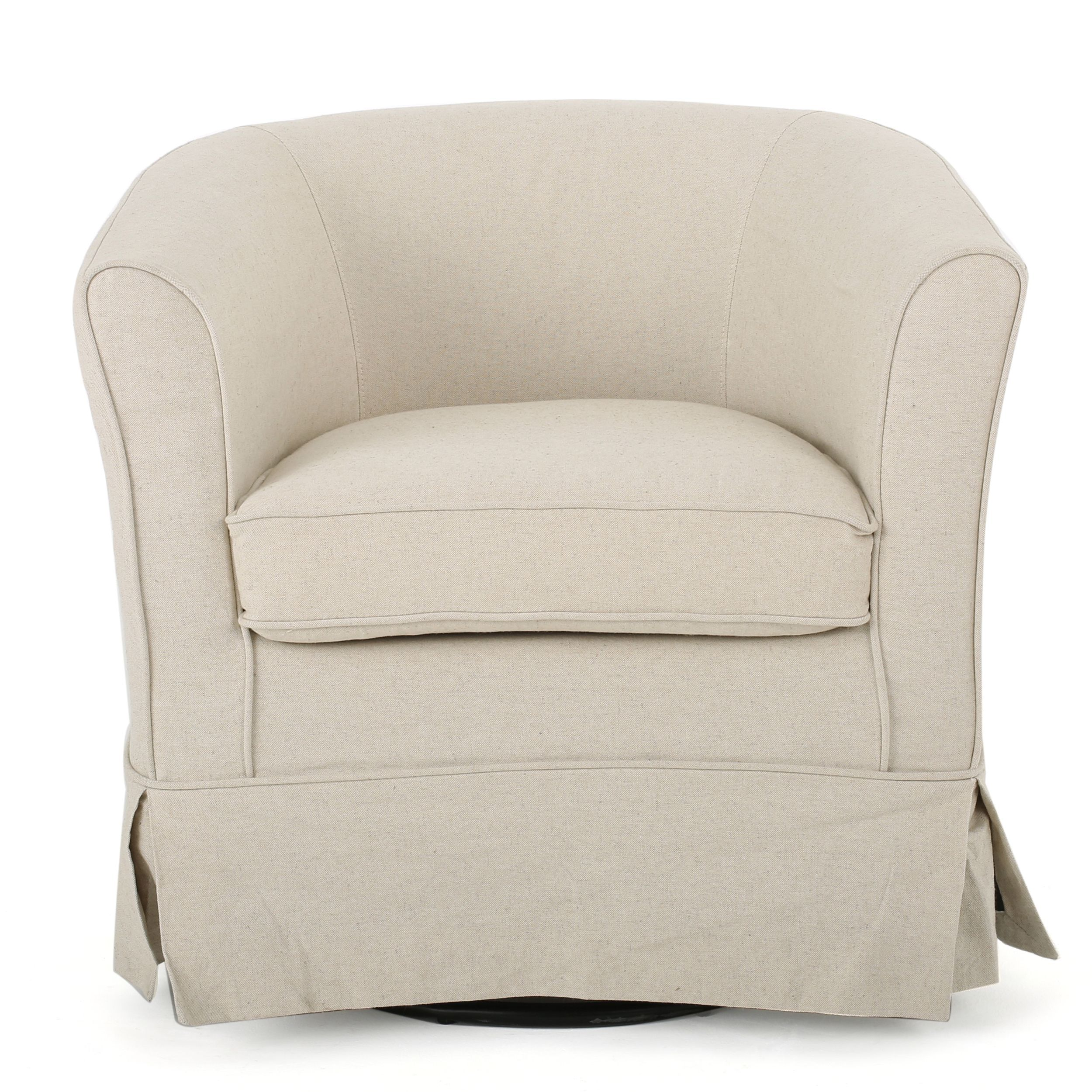 Tremendous Cecilia Fabric Swivel Club Chair By Christopher Knight Home Onthecornerstone Fun Painted Chair Ideas Images Onthecornerstoneorg