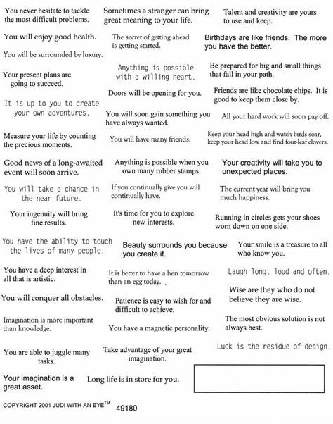 picture about Printable Funny Fortune Cookie Sayings Pdf identified as Printing Sheets of Fortune Cookies -- FreeWare by way of Purple Castle