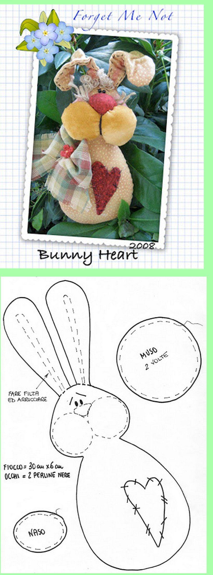 Conejo. Incluye patrones.   2   Pinterest   Conejo, Patrones y Molde