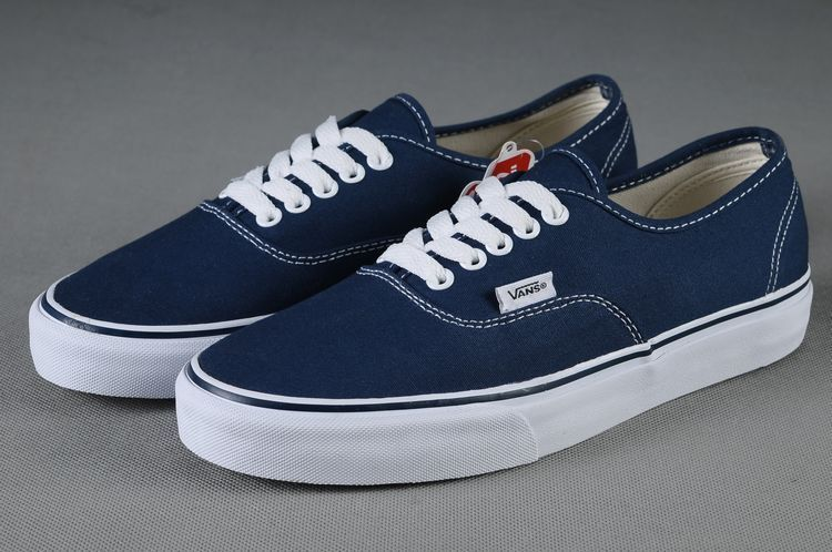 Vans Shoes Dark Blue Authentic Unisex Classic Canvas Sneakers $26.90