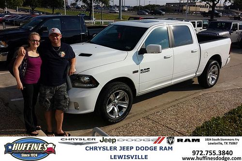 Thank you to Kristopher Tanner on your new 2014 Ram 1500 from Giovanni Polizzi and everyone at Huffines Chrysler Jeep Dodge Ram Lewisville!
