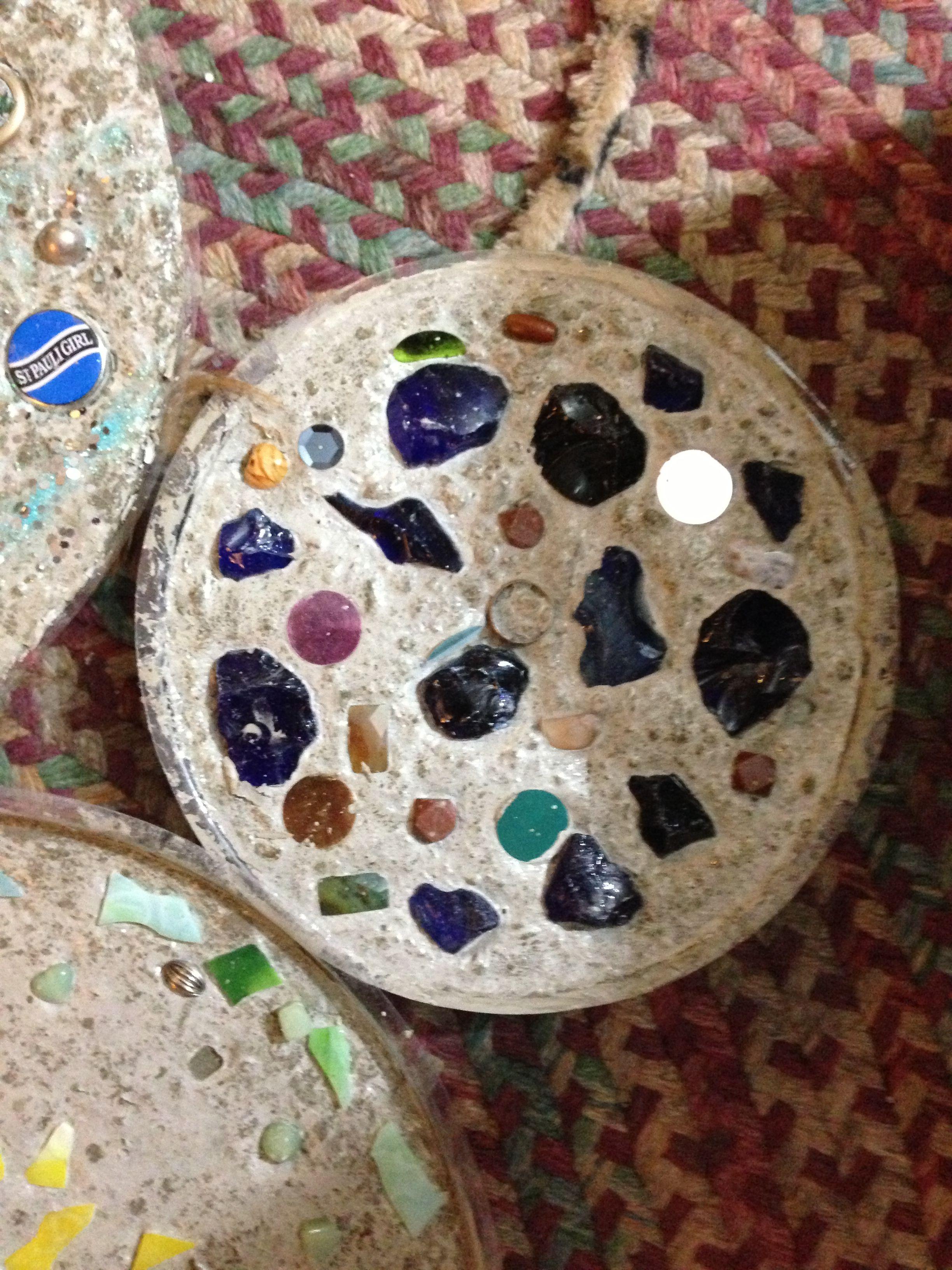 Feb 2013   Concrete Stepping Stones (dried)