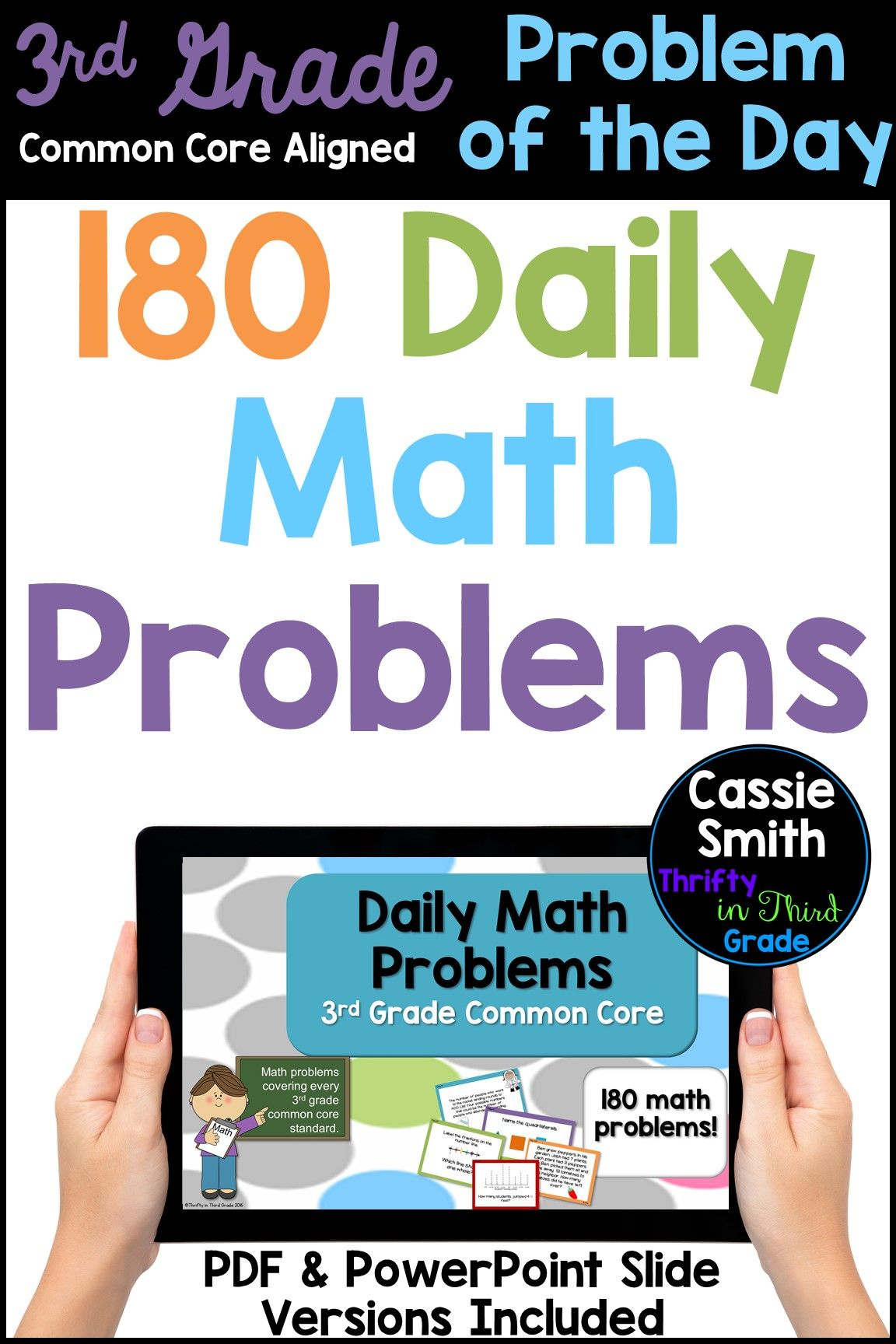 3rd Grade Daily Common Core Math Problems In